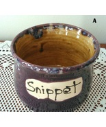 Snippet Jar (A) handmade handcrafted pottery cr... - $17.00