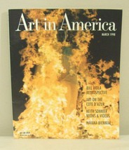 ART in AMERICA March 1998 Magazine Back Issue Bill Viola Keith Sonnier - $6.99