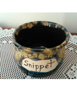 Snippet Jar (B) handmade handcrafted pottery cross stitch  - $17.00