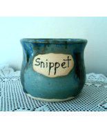 Snippet Jar (D) handmade handcrafted pottery cr... - $17.00