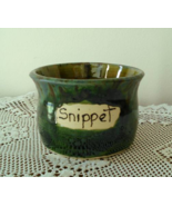 Snippet Jar (E) handmade handcrafted pottery cross stitch  - $17.00