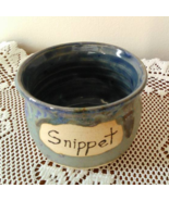 Snippet Jar (F) handmade handcrafted pottery cross stitch  - $17.00