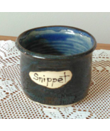 Snippet Jar (I) handmade handcrafted pottery cross stitch  - $17.00