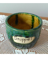Snippet Jar (L) handmade handcrafted pottery cross stitch  - $17.00