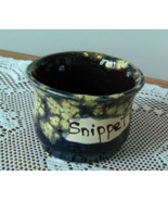 Snippet Jar (M) handmade handcrafted pottery cross stitch  - $17.00