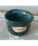 Snippet Jar (N) handmade handcrafted pottery cr... - $17.00