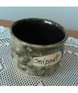 Snippet Jar (O) handmade handcrafted pottery cross stitch  - $17.00