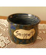 Snippet Jar (Q) handmade handcrafted pottery cr... - $17.00