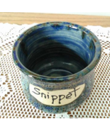 Snippet Jar (R) handmade handcrafted pottery cr... - $17.00