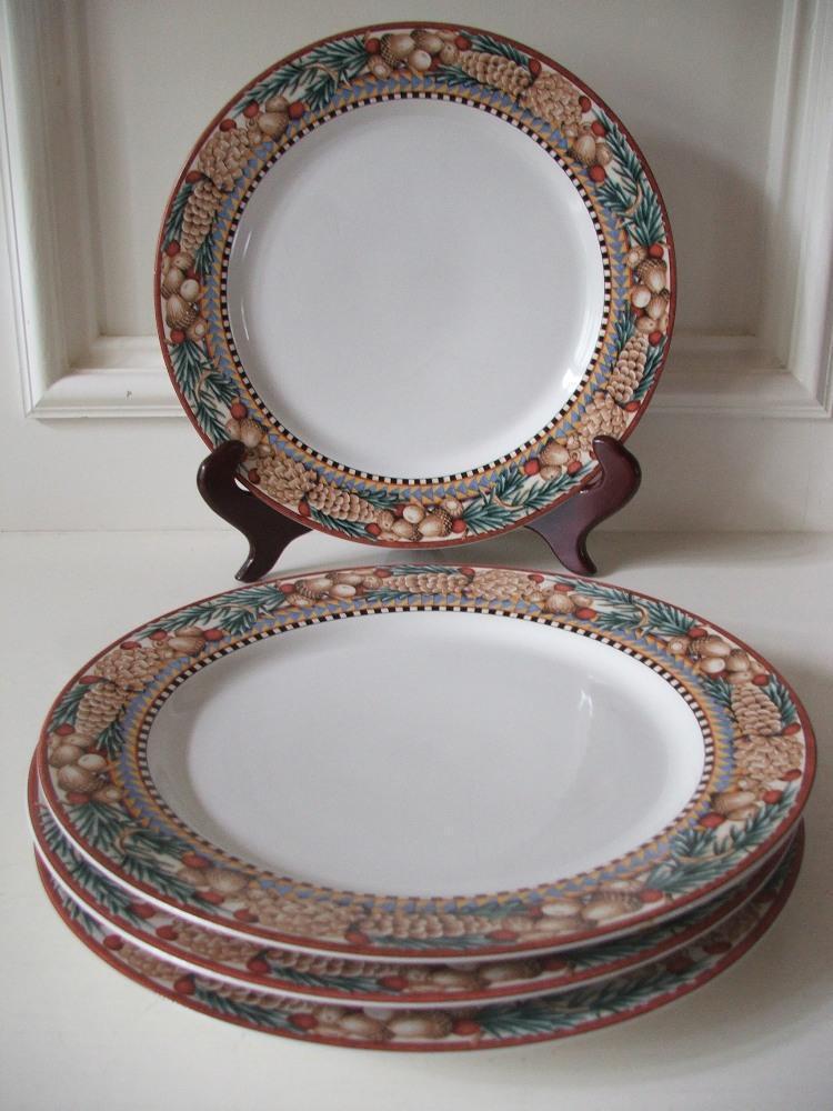 Sakura Pine Cone Debbie Munn 4 Dinner Plates and similar items