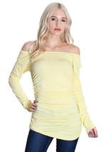 Women's Yellow Off Shoulder Cinched Top - $24.50