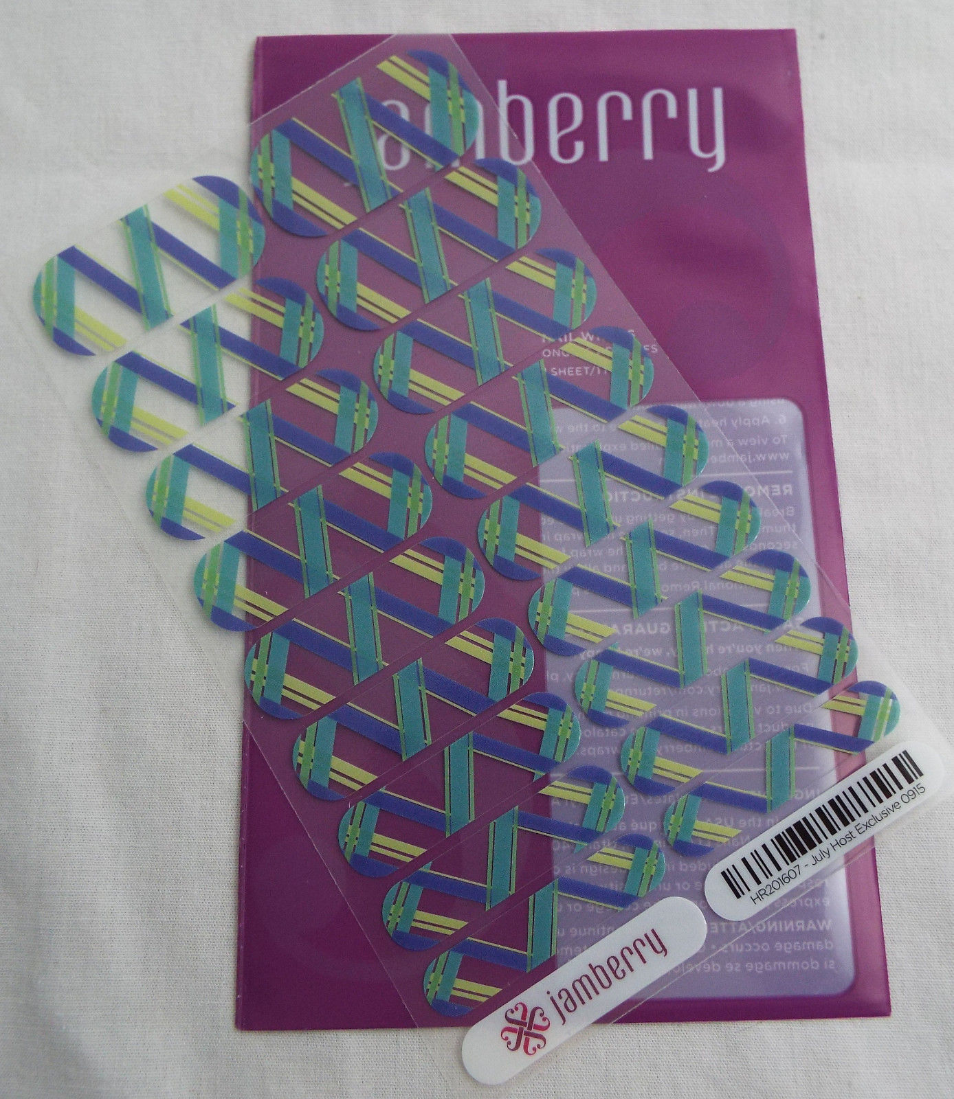 Primary image for Jamberry July Host Exclusive 0915 - HR201607 Nail Wrap ( Full Sheet )  New