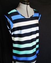 THE LIMITED Top Blouse S Multi Stripe Polyester Machine Wash VERY NICE - $13.90