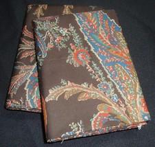 2 Standard Pillowcases Two Ralph Lauren BEDFORD HUNT BROWN PAISLEY FLORA... - $64.99