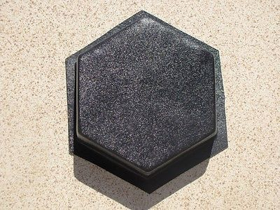 "6 Hexagon Driveway Patio Paver Molds 9""x2.5"" Make 100s of DIY Pavers For Pennies"