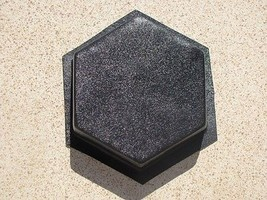 "Hexagon Driveway Patio Paver Molds (6) 9""x2.5"" Make 100s of DIY Pavers 4... - $59.99"