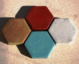"6 Hexagon Driveway Patio Paver Molds 9""x2.5"" Make 100s of DIY Pavers For Pennies image 3"