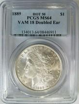 1889 Silver Morgan Dollar PCGS MS 64 Vam 18 Doubled Ear Mint Error Variety - $229.99