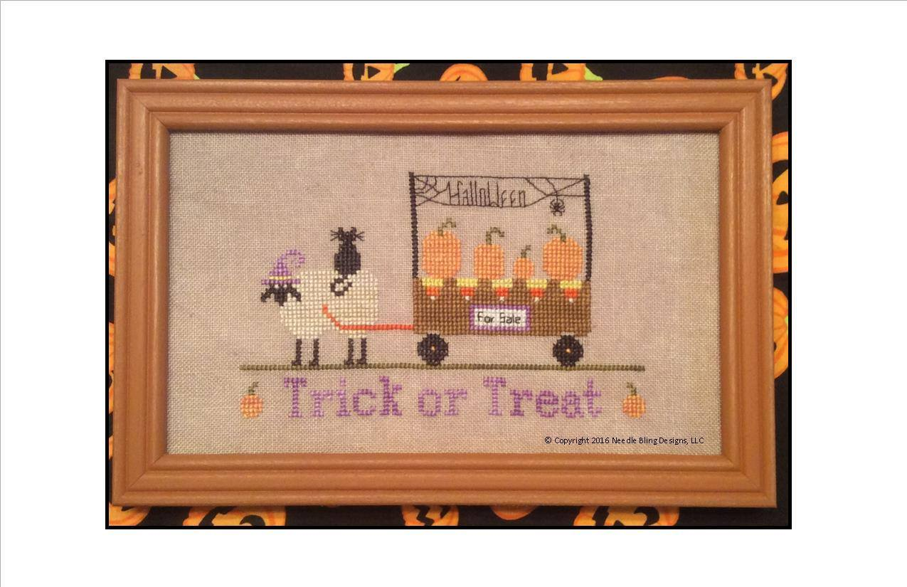 Trick or treat the sheep peddler series halloween cross stitch needle bling other - Peddlers home design ...