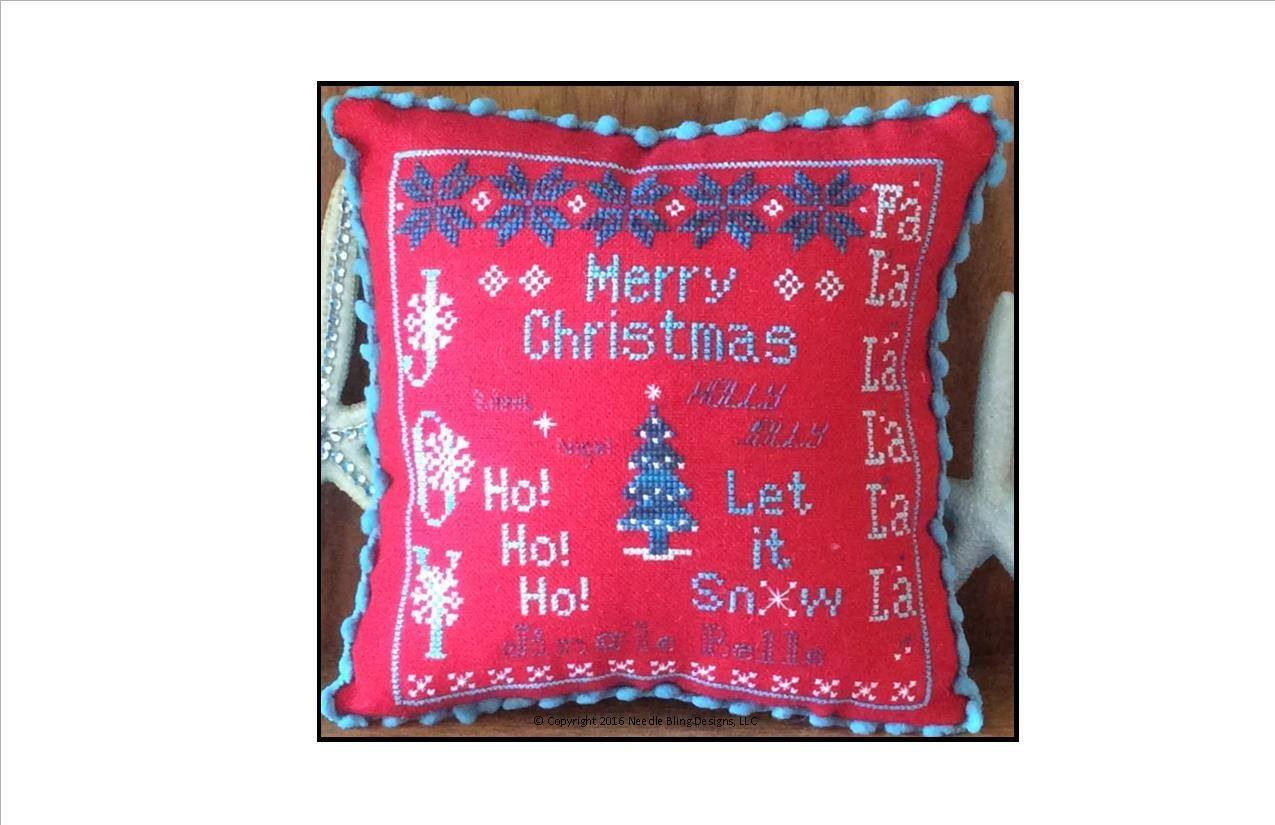 Primary image for Christmas Joy cross stitch chart Needle Bling