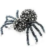 Gray Beaded Spider halloween for Spidery Treats... - $5.00