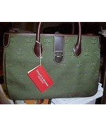 NWT Dooney & Bourke Donegal Print Fabric Pine Green With Extras - $155.00