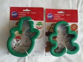 Wilton Comfort Grip Snowman & Gingerbread Man Cookie Cutters Christmas NWT - $8.90