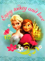 Disney Frozen Anna Elsa Plush Throw Blanket Twin Size 60x80 - Sister Love - $29.21
