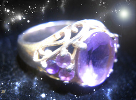 HAUNTED RING  MASTERS & SCHOLARS PORTRAIT OF A HIGH WITCH SECRET OOAK MAGICK - $7,799.77