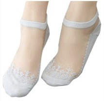 Socks - TOOGOO(R)Fashion Lady's No Show Mesh Lace Patchwork Ankle Invisi... - $2.35