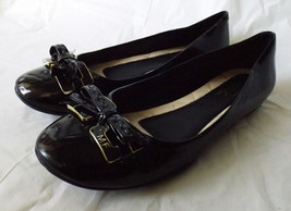 Marc Fisher Genuine Black Patent Leather Ballet Flats 9.5 M - $23.90