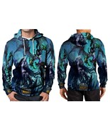 WORLD OF WARCRAFT WRATH OF THE LICH KING HOODIE FULLPRINT MEN - $41.80