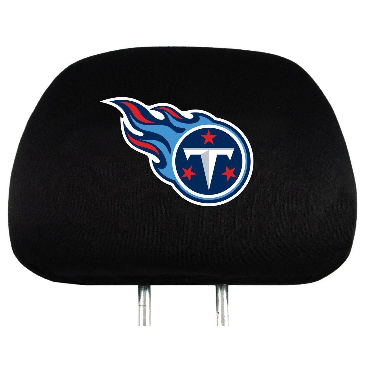TENNESSEE TITANS CAR AUTO 2 TEAM HEAD REST COVERS NFL FOOTBALL