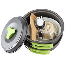 Camping Cookware Mess Kit Backpacking Gear Hiking Outdoors Bug Out Bag M... - $526,89 MXN