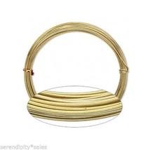 ALUMINUM CRAFT Jewelry WIRE 16ga GOLD 45 ft ~ 16 Gauge ~ Bulk Roll ~ Non... - $6.47