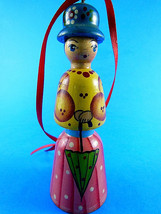 """SHELMAR 4,5"""" Wooden Hand Painted doll Christmas tree Ornament made in RU... - $10.93"""