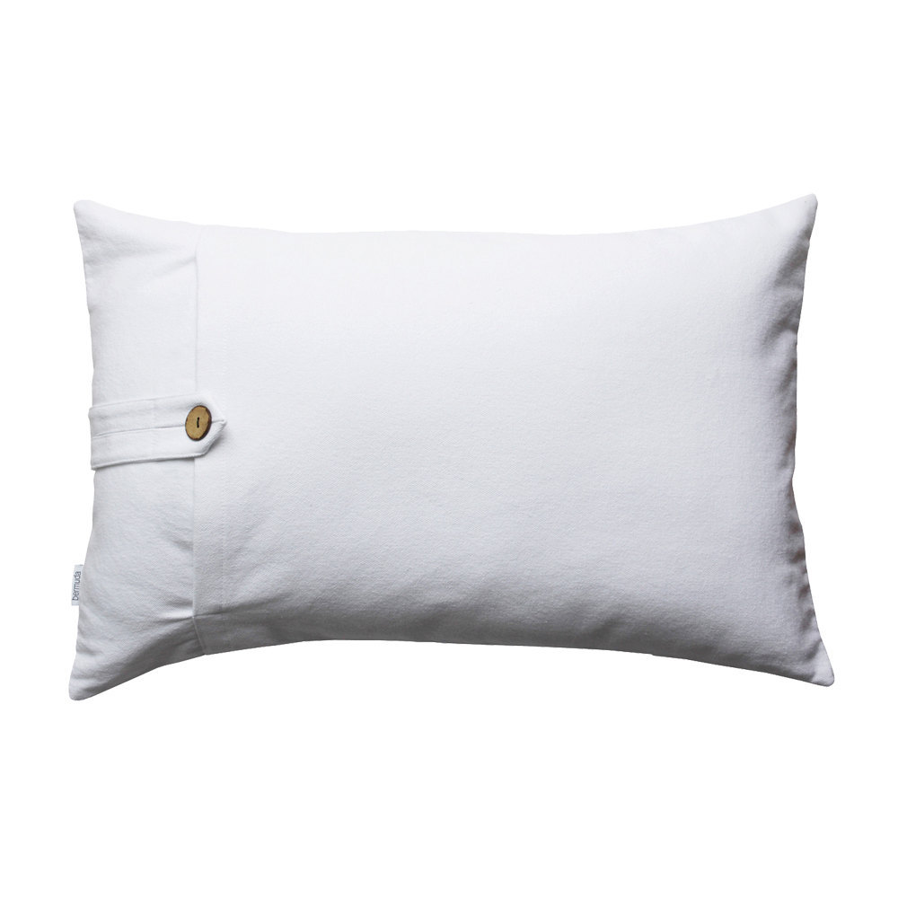 Modern white lumbar throw pillow / lumbar pillow case Miami Morningdew 16x26 - Pillows