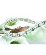 "Sterling Silver Midnight Sapphire Blue Topaz Tennis Bracelet 7.25"" - $62.00"