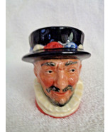 "Vintage THE BEEFEATER Toby Jug Character Mug Royal Doulton Small 3 1/2"" - $9.49"