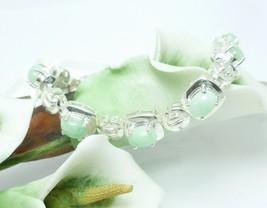 "Sterling Silver Jade Chinese Pattern Bracelet 7.25"" - $69.00"