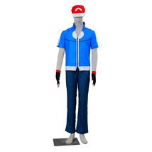 Pokemon Ash Ketchum Cosplay Costume Hat Hoodie Gloves 5st generation - $59.99