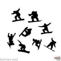 Snowboarders Vinyl Decal -- Set of 8 - Great for Cars or Walls - Select ... - $9.00