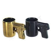 Set of 2 Gun Mug Shot Ceramic Glass Bar Cup Pis... - $16.82