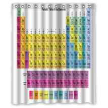 Periodic Table #02 Shower Curtain Waterproof Made From Polyester - $31.26+