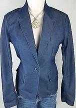 Express Jeans Blue Jean Blazer Jacket Coat Cardigan Womens Top Size Smal... - $20.78