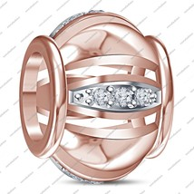 Round CZ Sale Fits Pandora, Chamilia & Troll Bracelet In 925 Sterling Si... - $40.95