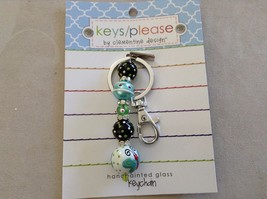 New Car Charm Hand Painted Butterfly Clementine Design Key Chain