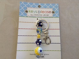 New Car Charm Hand Painted Moon And Stars Clementine Design Key Chain