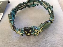 New Jubilee Earrings Silver Toned Gold Toned Sea Green Starfish Two Bracelet Set image 3