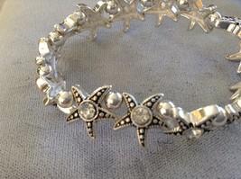 New Jubilee Earrings Silver Toned Gold Toned Sea Green Starfish Two Bracelet Set image 4